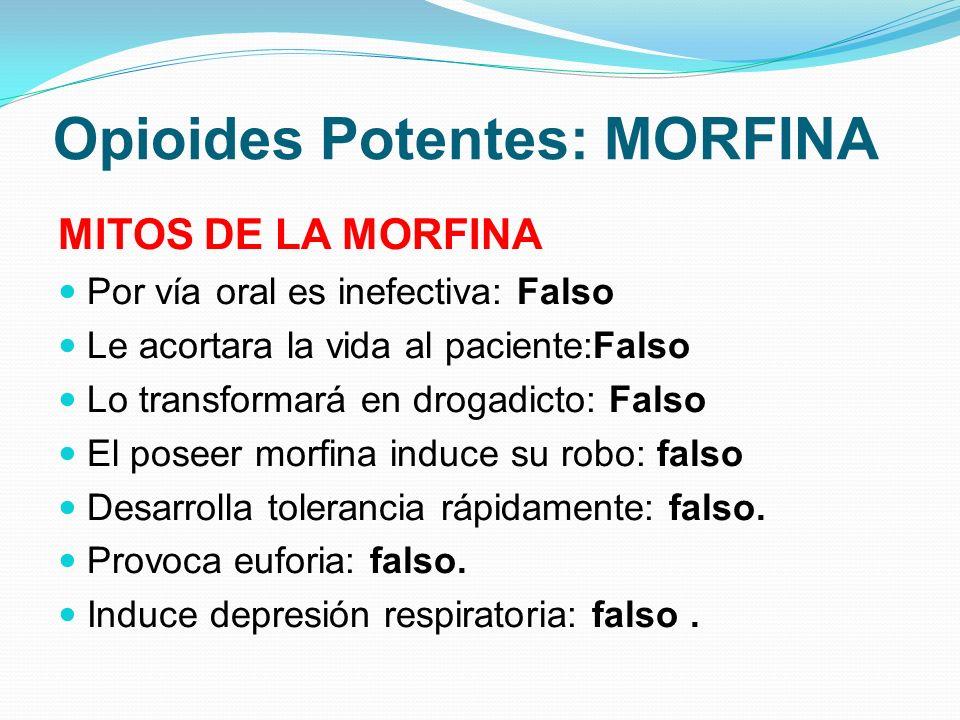 Opioides Potentes: MORFINA