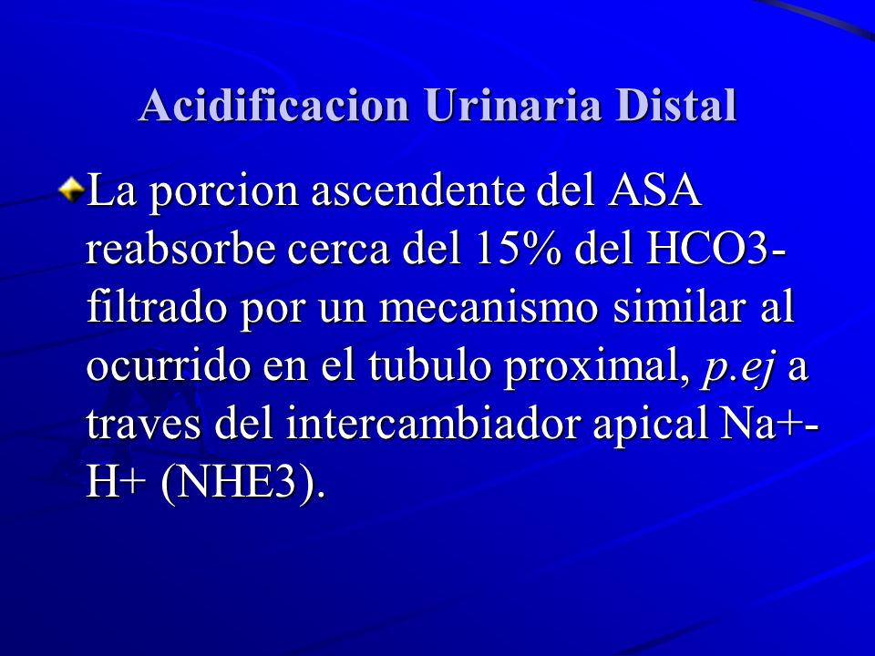 Acidificacion Urinaria Distal