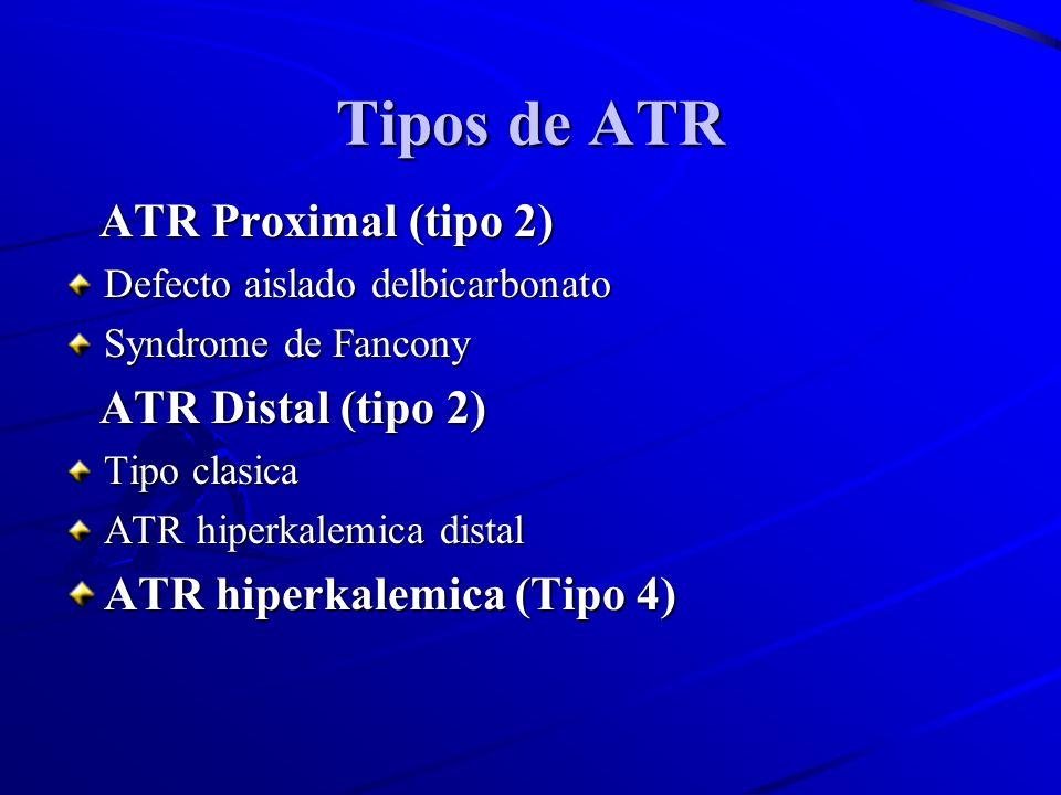 Tipos de ATR ATR Proximal (tipo 2) ATR Distal (tipo 2)