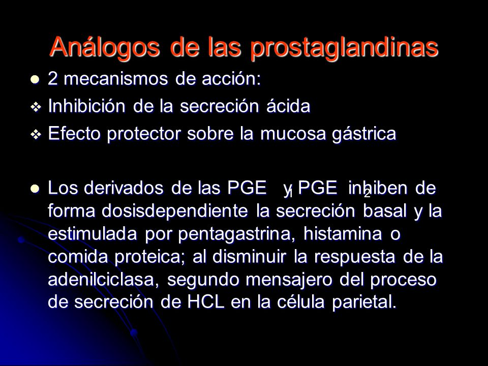 Análogos de las prostaglandinas
