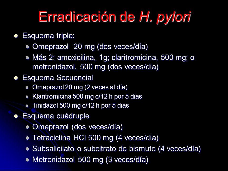 Erradicación de H. pylori