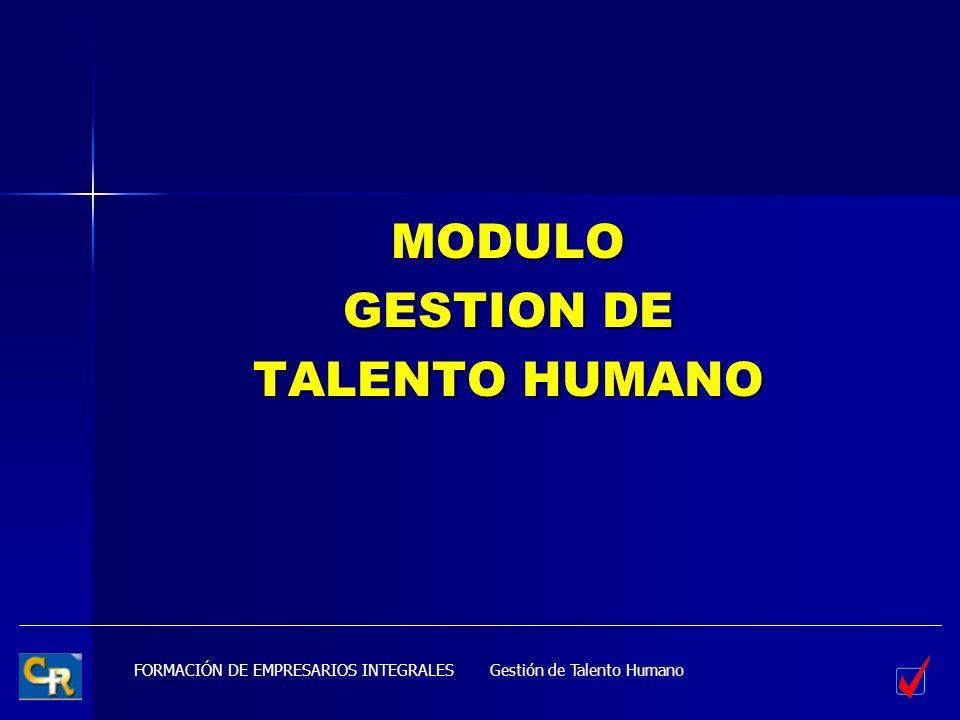 MODULO GESTION DE TALENTO HUMANO Gestión de Talento Humano