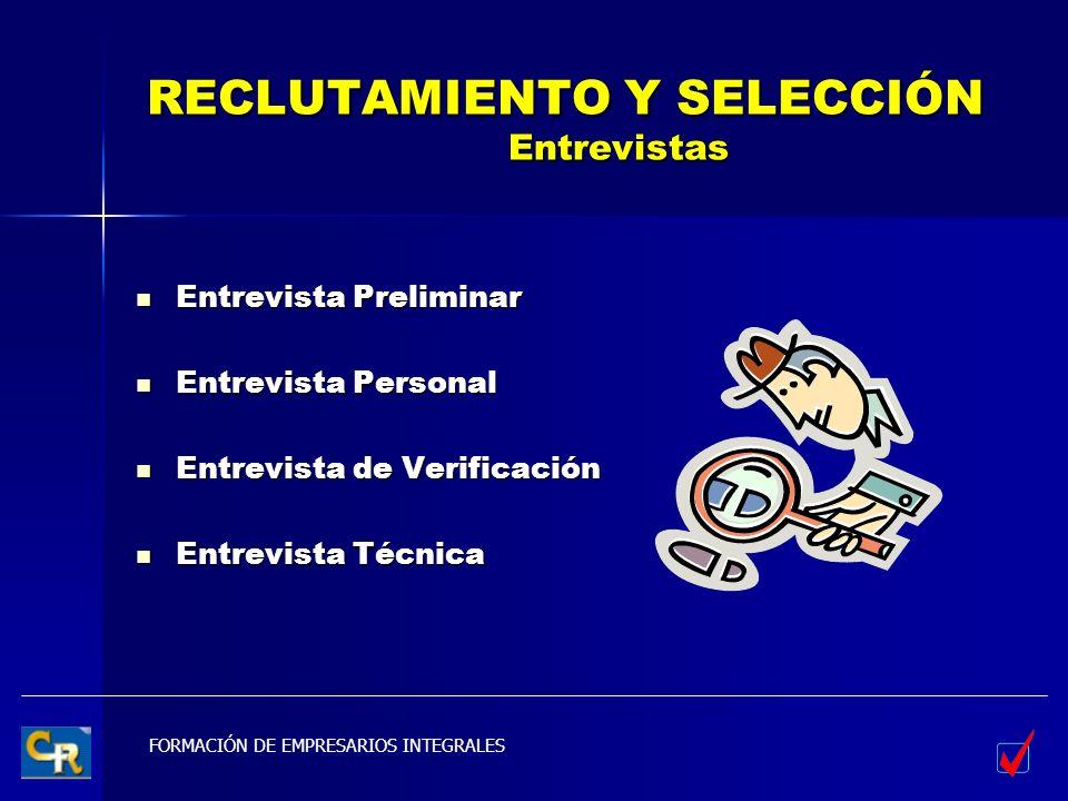 RECLUTAMIENTO Y SELECCIÓN Entrevistas