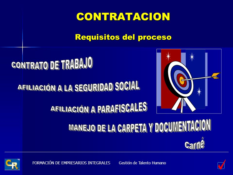 CONTRATACION Requisitos del proceso
