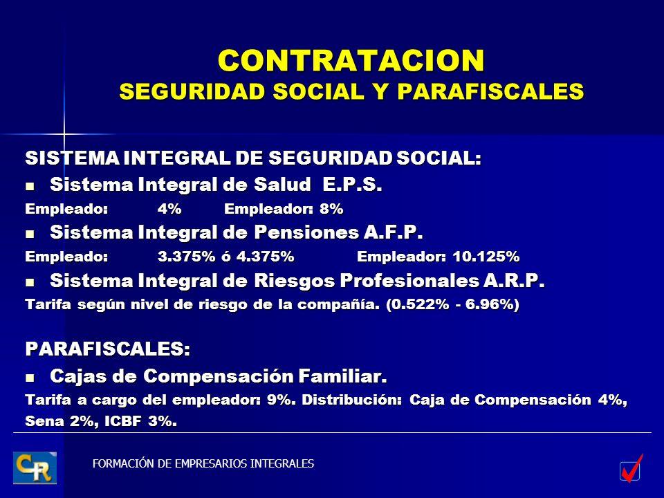 CONTRATACION SEGURIDAD SOCIAL Y PARAFISCALES