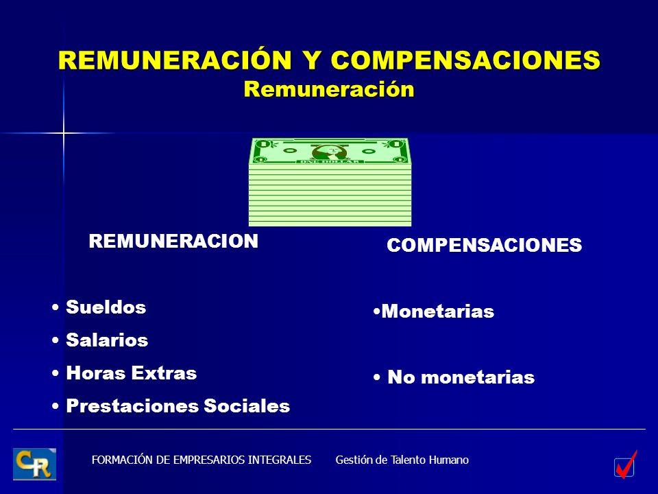 REMUNERACIÓN Y COMPENSACIONES Remuneración