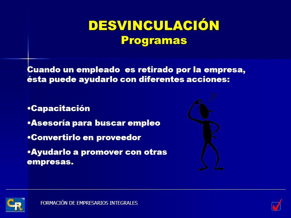DESVINCULACIÓN Programas