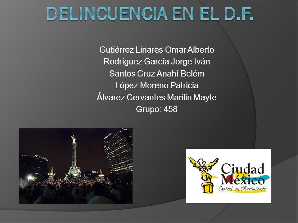 Delincuencia en el D.F. Gutiérrez Linares Omar Alberto