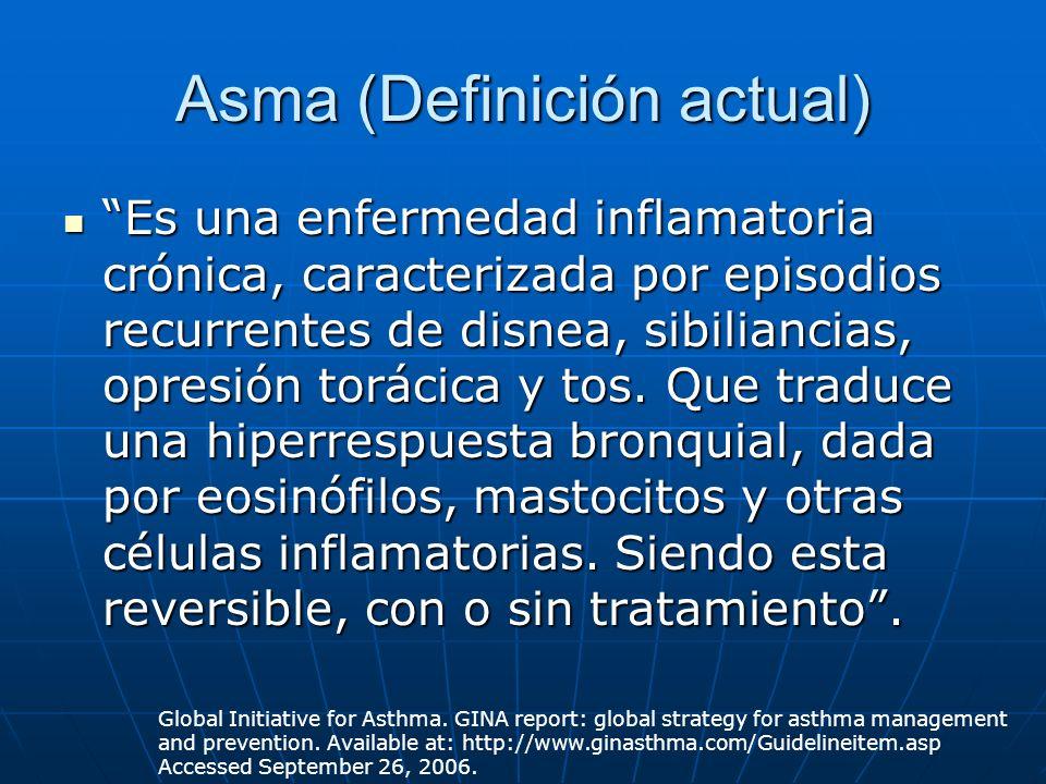 Asma (Definición actual)