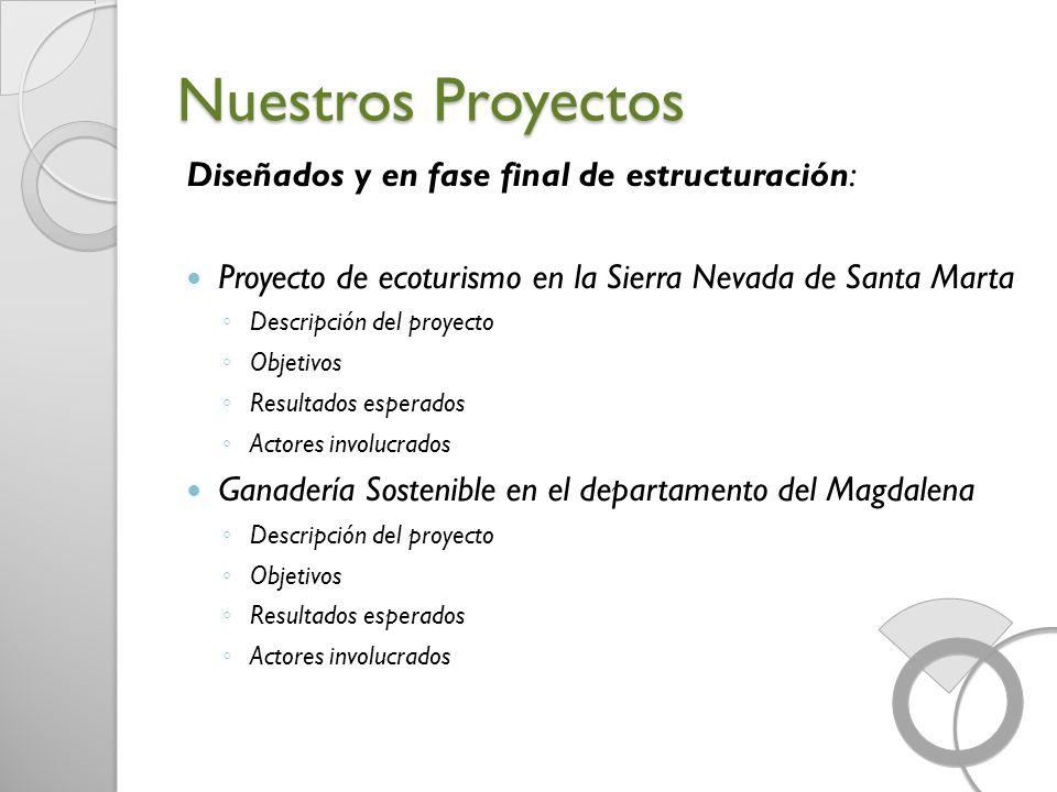Nuestros Proyectos Diseñados y en fase final de estructuración: