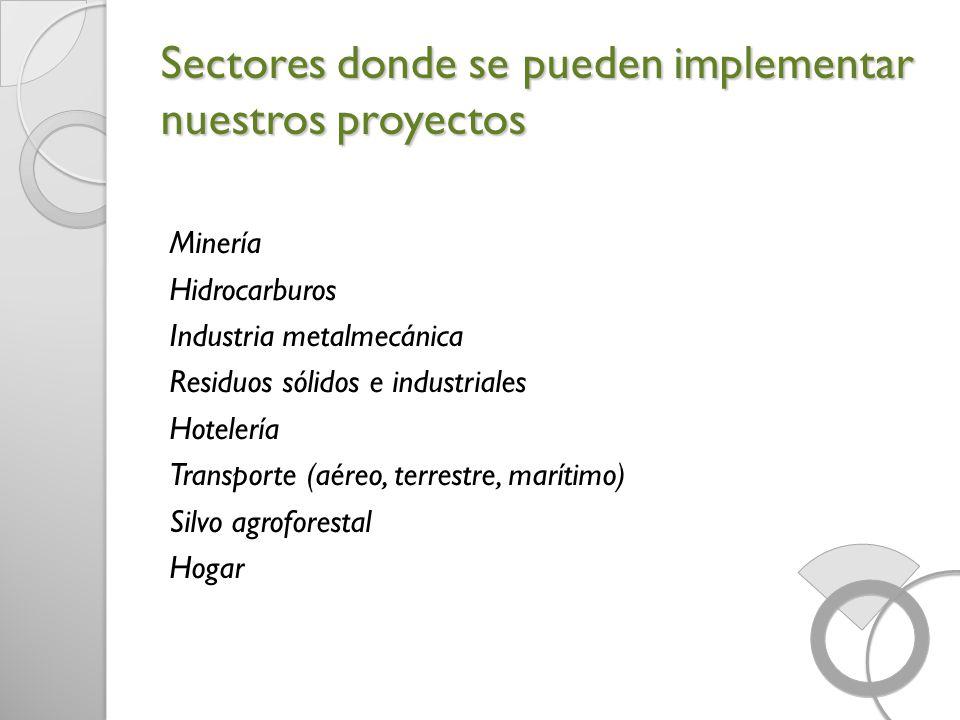 Sectores donde se pueden implementar nuestros proyectos
