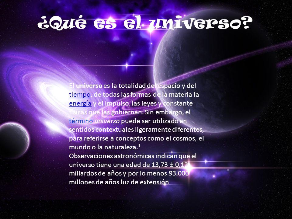 ¿Qué es el universo