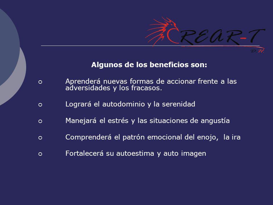 Algunos de los beneficios son:
