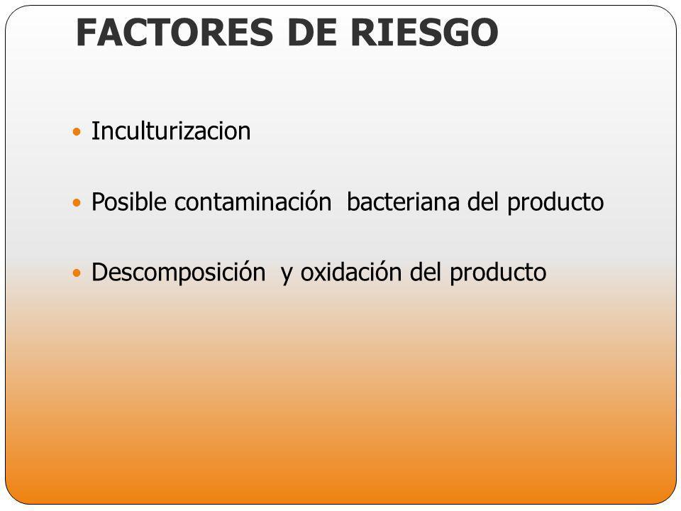 FACTORES DE RIESGO Inculturizacion