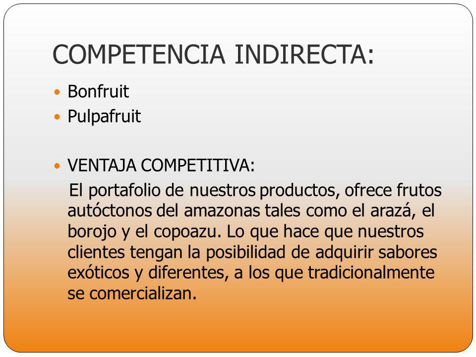 COMPETENCIA INDIRECTA: