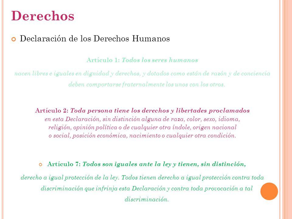 Derechos Declaración de los Derechos Humanos