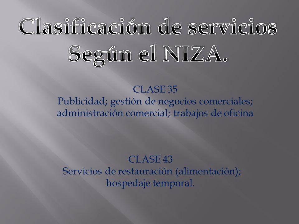 Clasificación de servicios