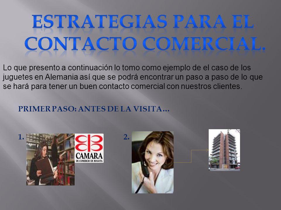 ESTRATEGIAS PARA EL CONTACTO COMERCIAL.