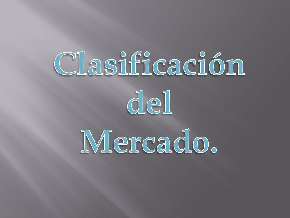 Clasificación del Mercado.