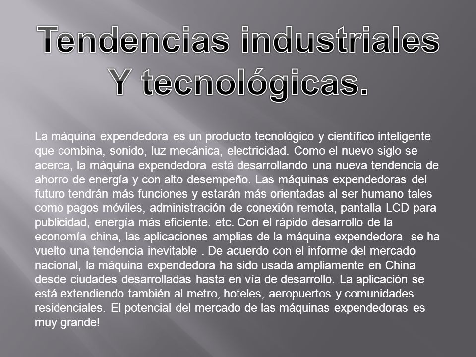 Tendencias industriales