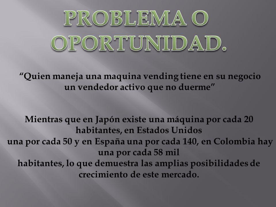 PROBLEMA O OPORTUNIDAD.