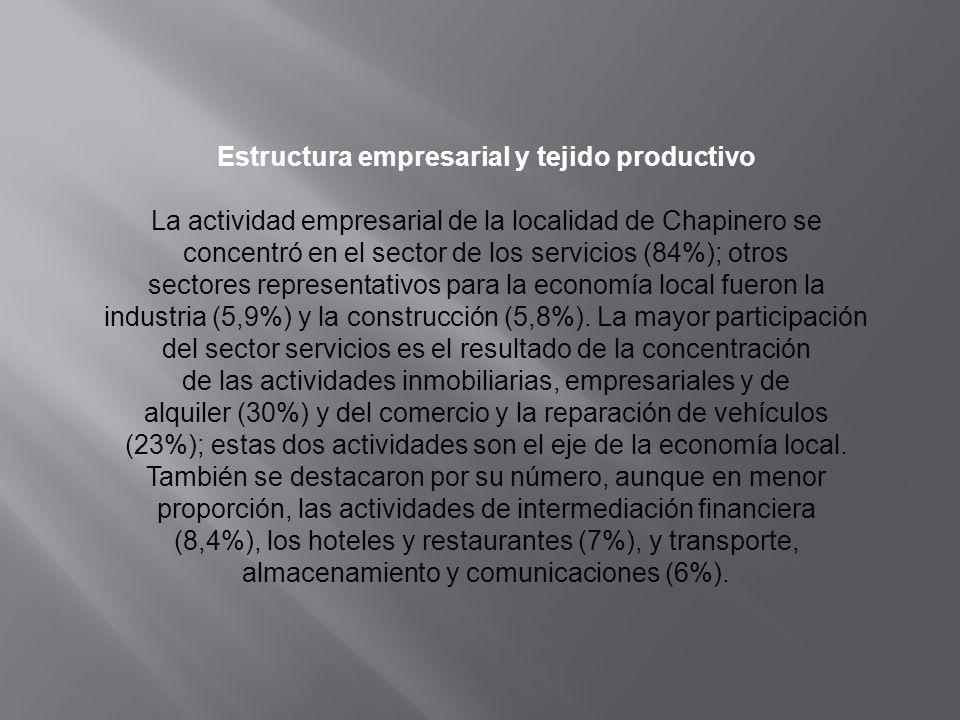 Estructura empresarial y tejido productivo