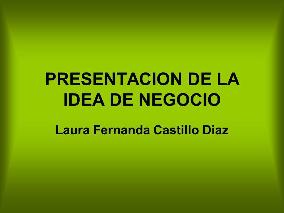 PRESENTACION DE LA IDEA DE NEGOCIO