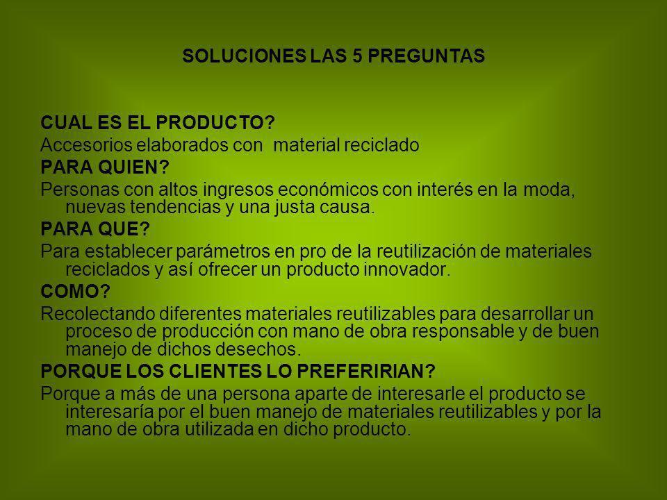 SOLUCIONES LAS 5 PREGUNTAS