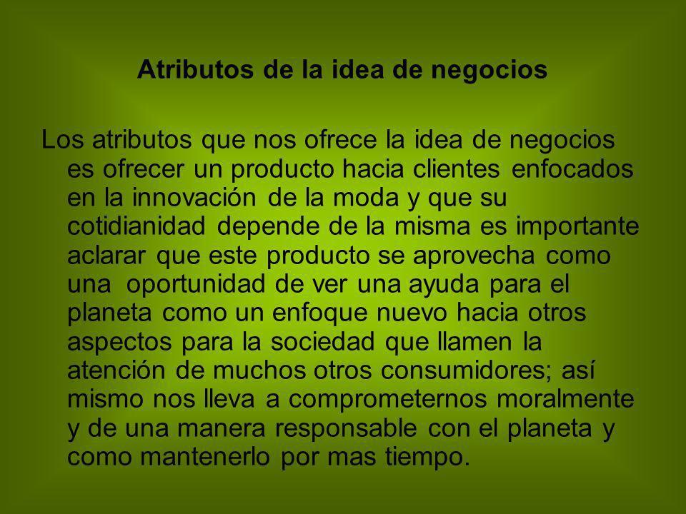 Atributos de la idea de negocios