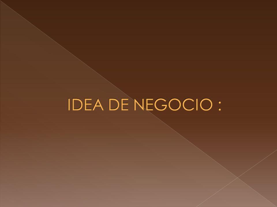 IDEA DE NEGOCIO :