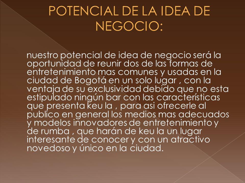 POTENCIAL DE LA IDEA DE NEGOCIO: