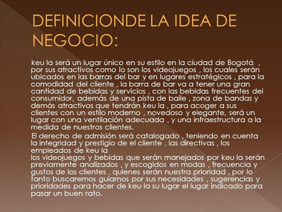 DEFINICIONDE LA IDEA DE NEGOCIO: