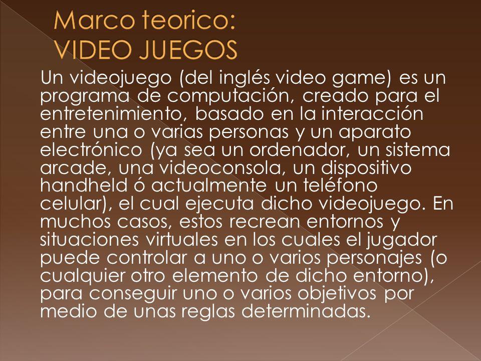 Marco teorico: VIDEO JUEGOS