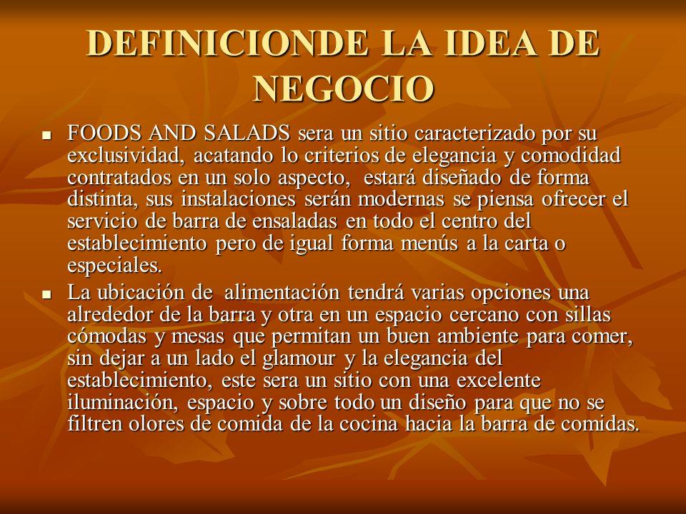DEFINICIONDE LA IDEA DE NEGOCIO