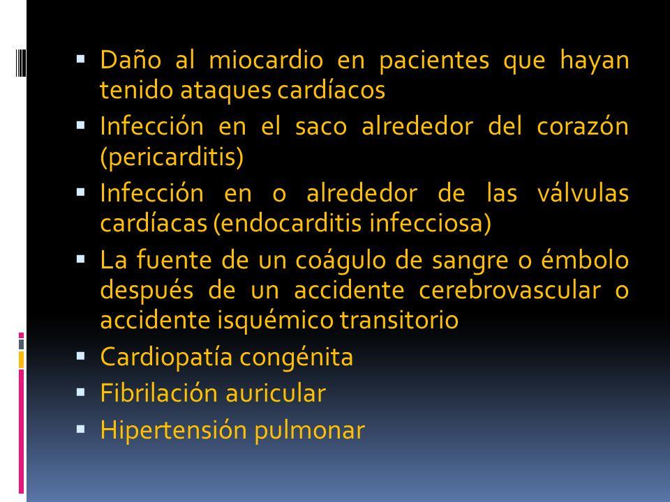 Daño al miocardio en pacientes que hayan tenido ataques cardíacos