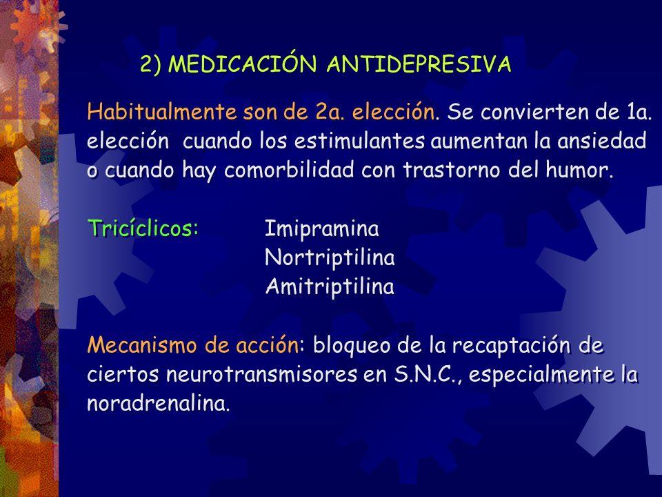 2) MEDICACIÓN ANTIDEPRESIVA