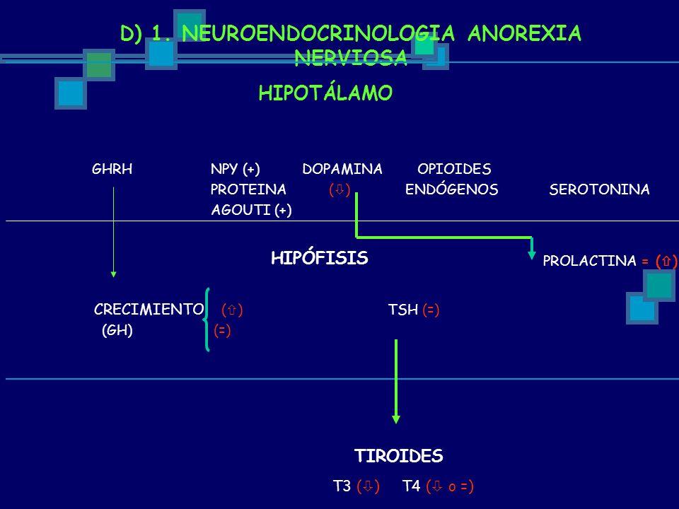 D) 1. NEUROENDOCRINOLOGIA ANOREXIA NERVIOSA
