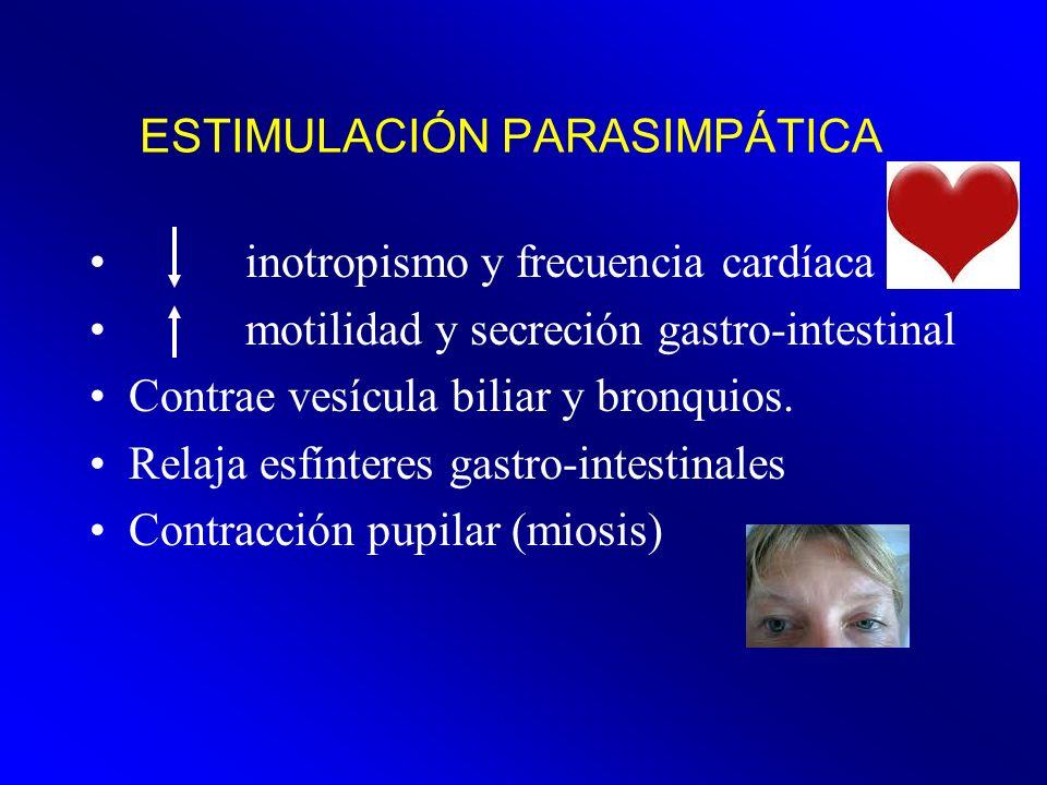 ESTIMULACIÓN PARASIMPÁTICA