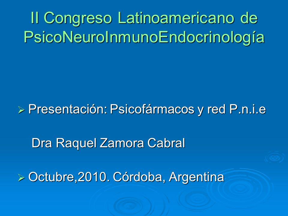 II Congreso Latinoamericano de PsicoNeuroInmunoEndocrinología