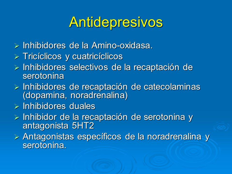 Antidepresivos Inhibidores de la Amino-oxidasa.