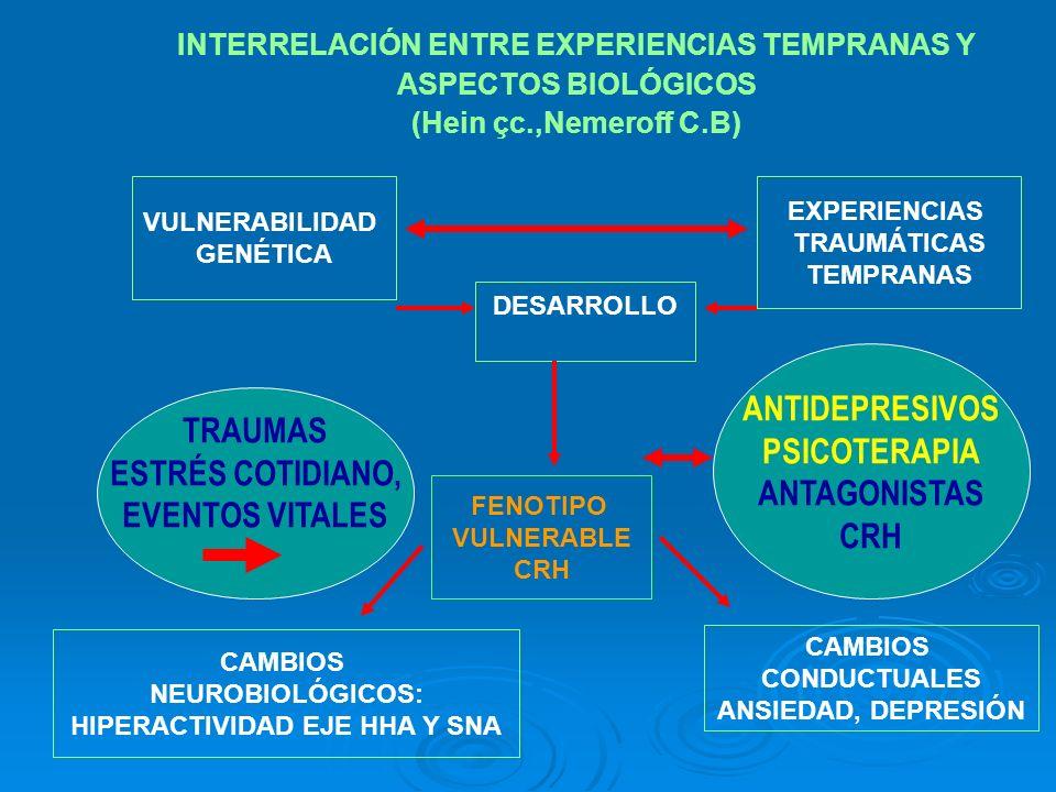 ANTIDEPRESIVOS PSICOTERAPIA TRAUMAS ANTAGONISTAS ESTRÉS COTIDIANO, CRH