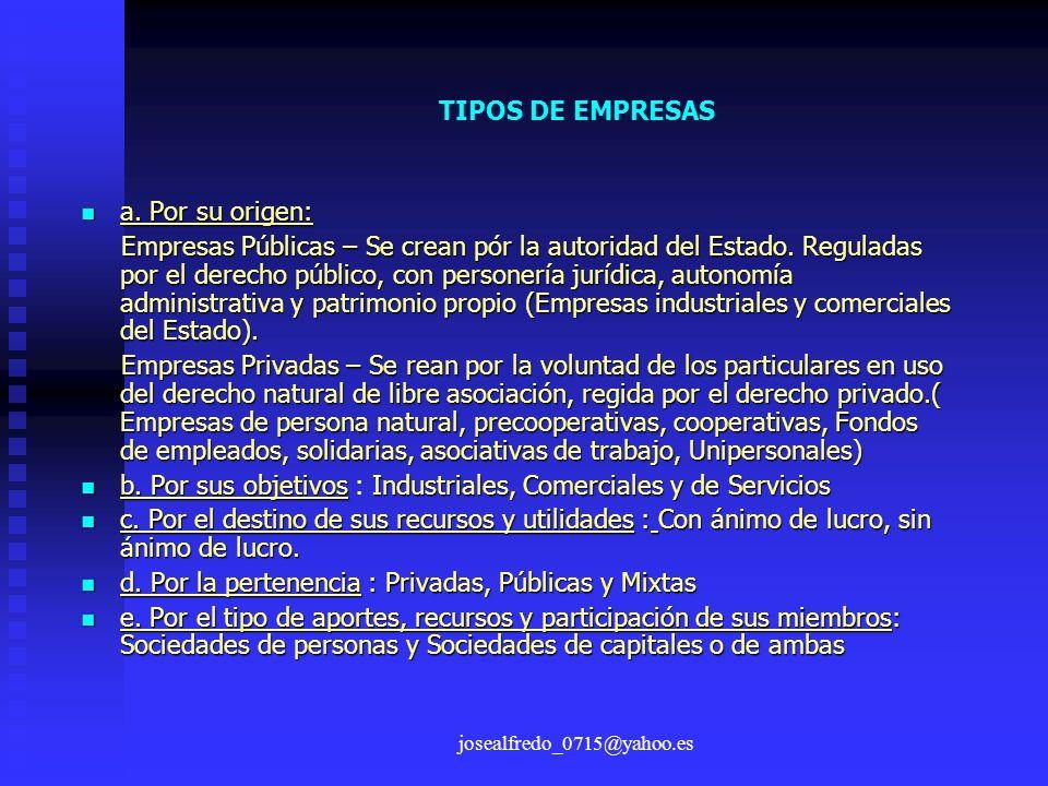 b. Por sus objetivos : Industriales, Comerciales y de Servicios