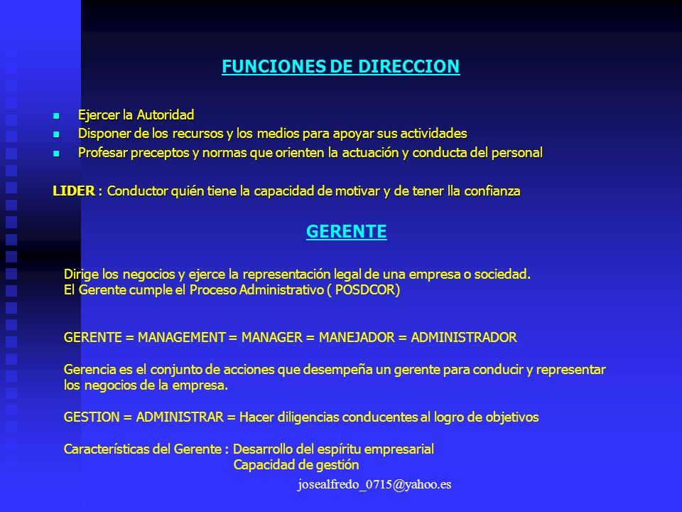 FUNCIONES DE DIRECCION