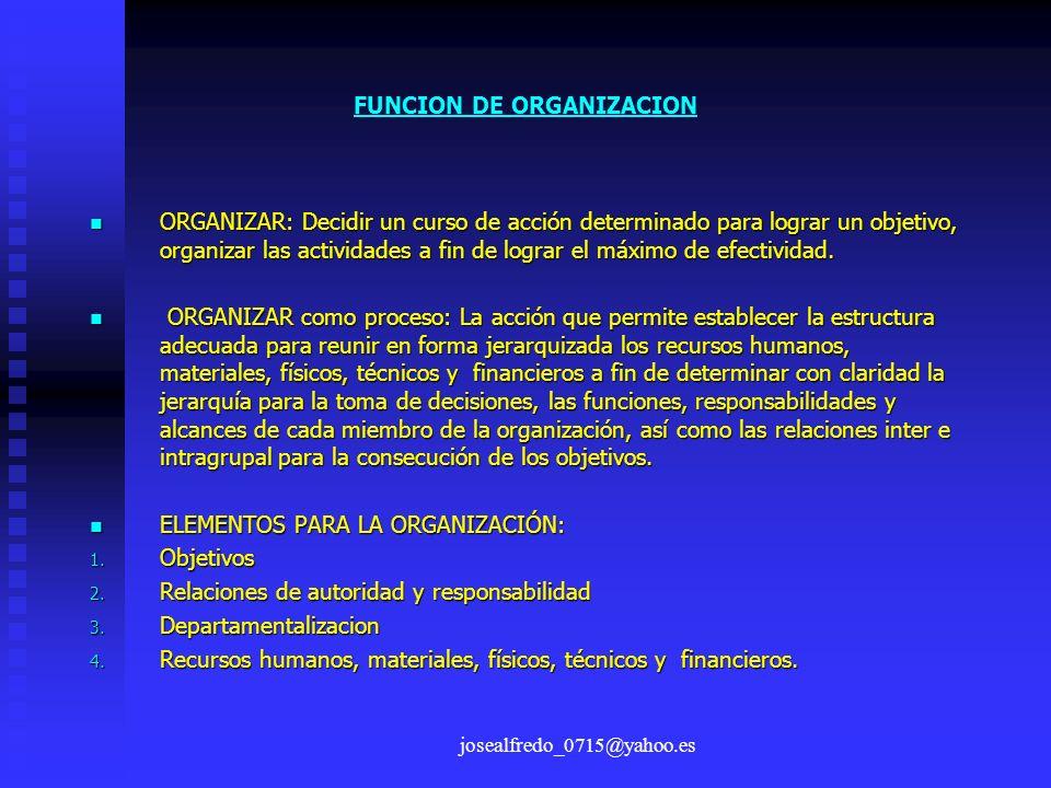 FUNCION DE ORGANIZACION