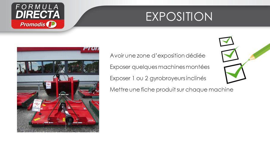 EXPOSITION Avoir une zone d'exposition dédiée