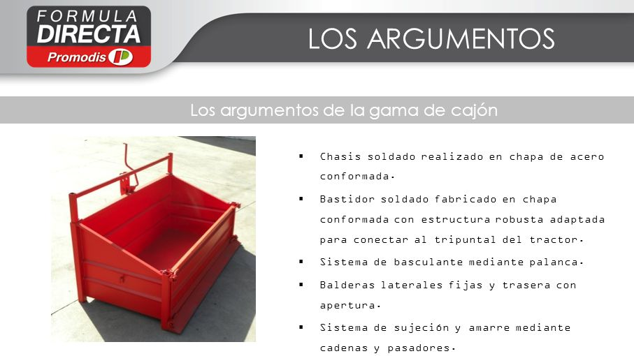 Los argumentos de la gama de cajón