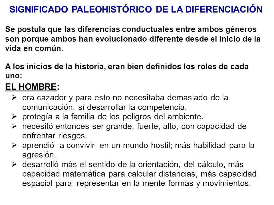 SIGNIFICADO PALEOHISTÓRICO DE LA DIFERENCIACIÓN