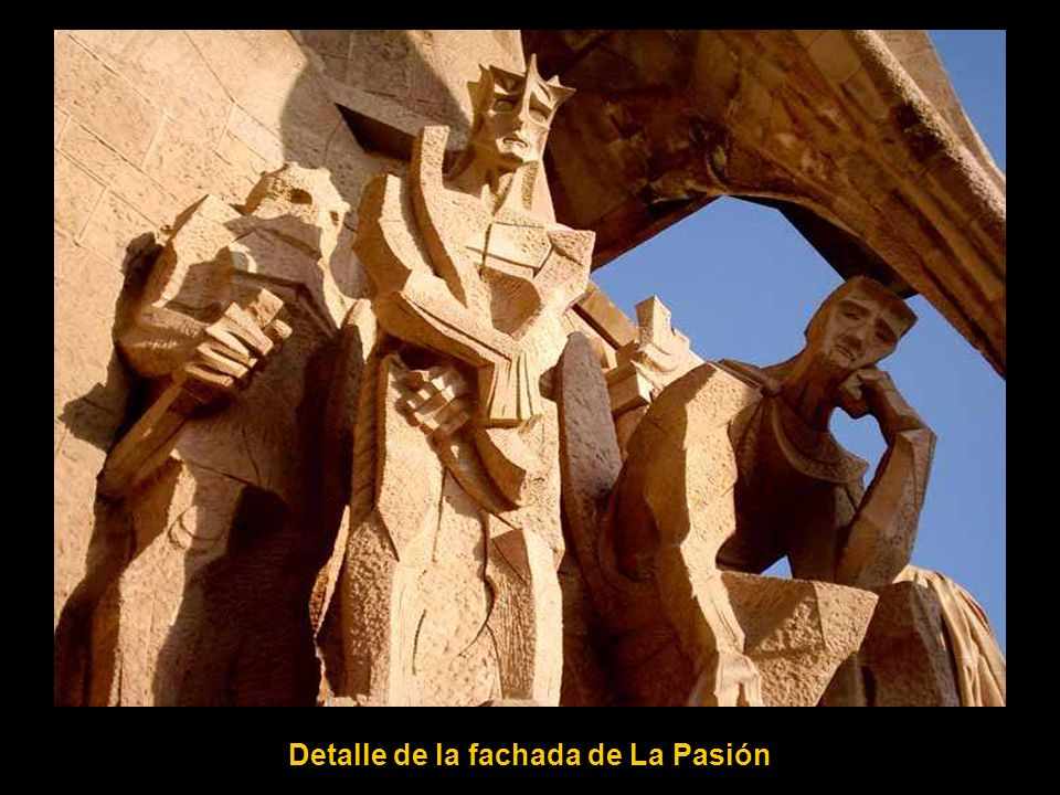 Detalle de la fachada de La Pasión