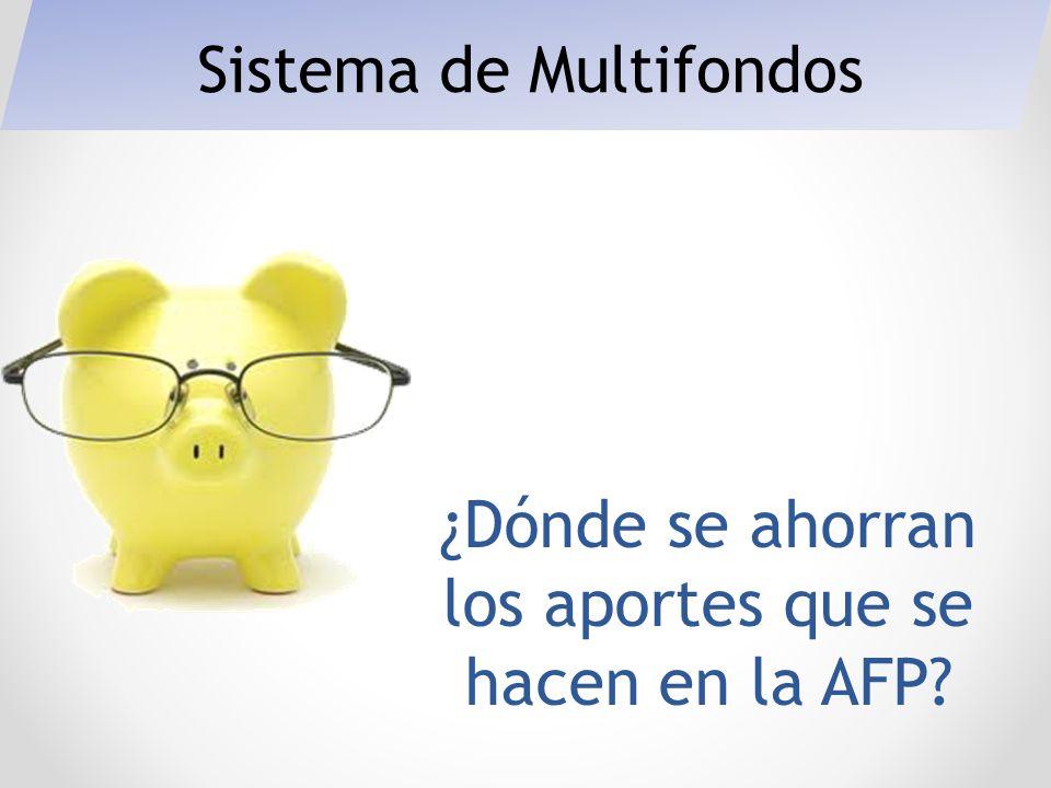 ¿Dónde se ahorran los aportes que se hacen en la AFP