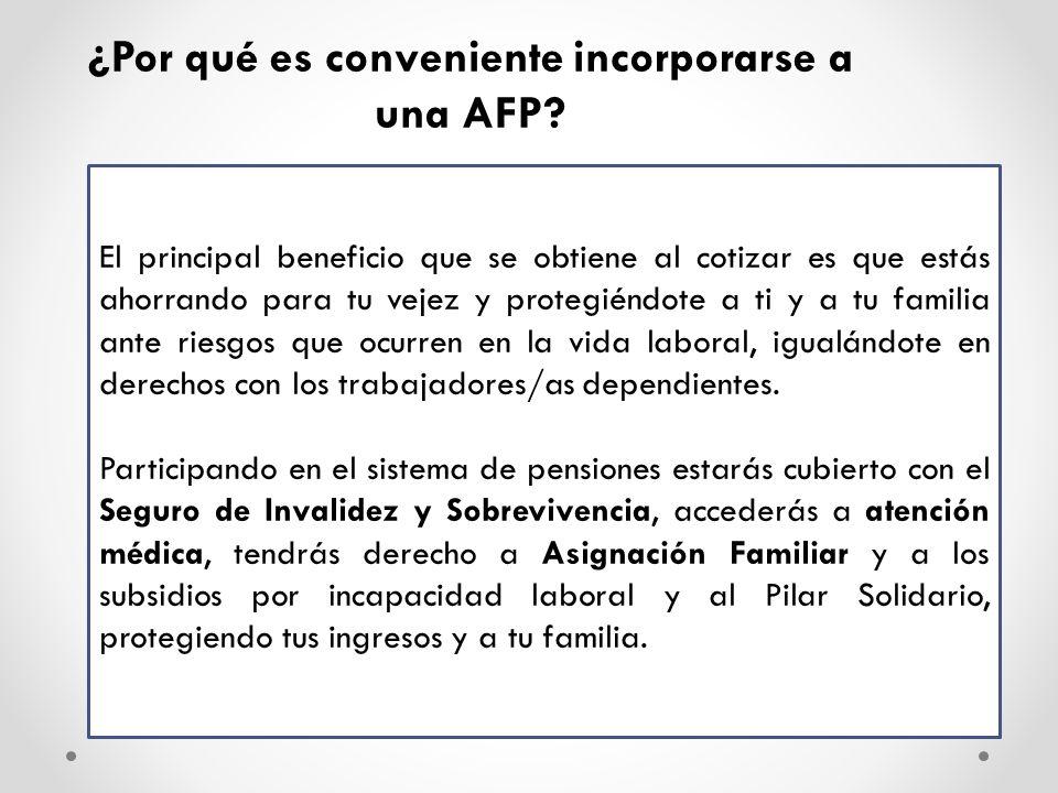 ¿Por qué es conveniente incorporarse a una AFP